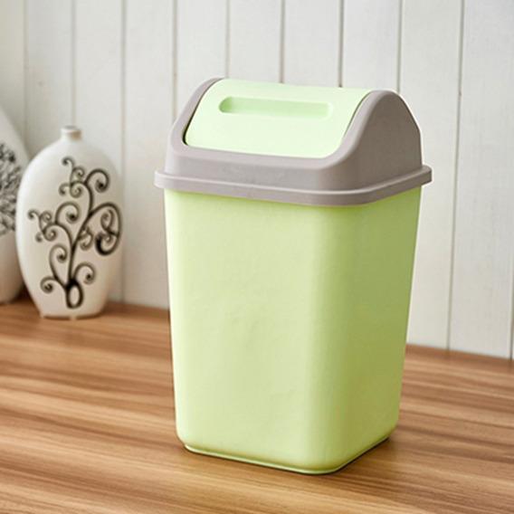 Plástico Lixo Can Coberto Vida Quarto Armazenamento Organiza