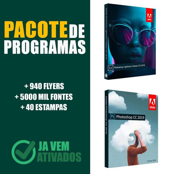 Pacote Programas + 940 Flyers + 5000 Fontes + 40 Estampas