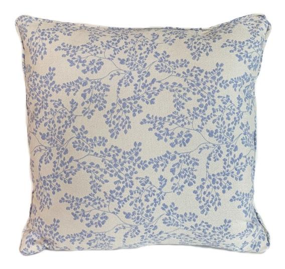 [ Cassia ]® 1 Cojines Decorativos Flores Azul Morado 45x45
