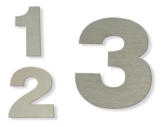 Número Acero Inoxidable 12 Cm Dirección Frente De Casa