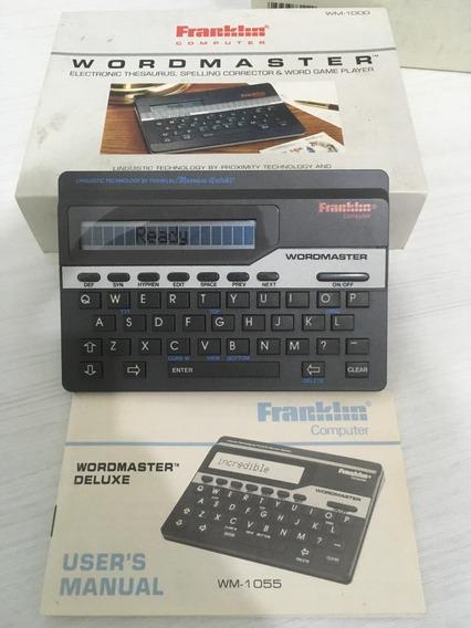 Computador De Mão Wordmaster Franklin Wm-1055 Inglês