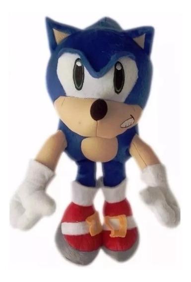 Boneco Pelúcia Sonic Grande 36 Cm Antialérgico