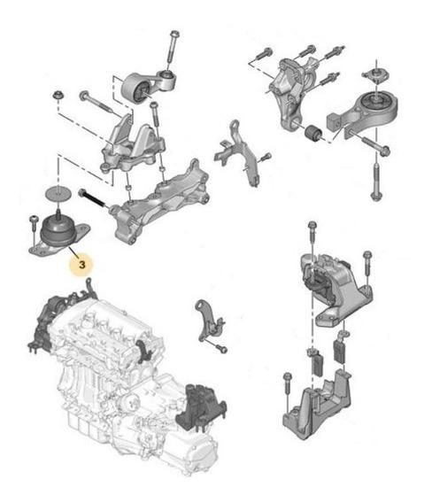 Soporte Motor Derecho Peugeot 508 1.6 Thp