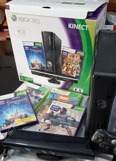 Consola Xbox 360 Slim + Kinect + Joystick