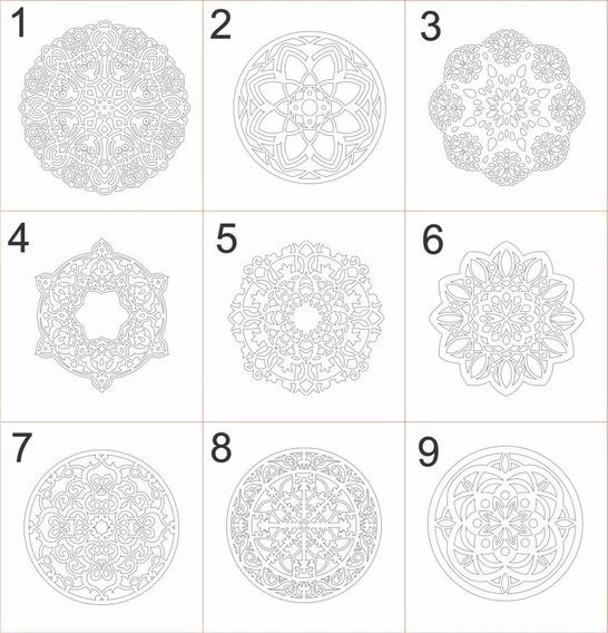 Mandalas Decorativas Mdf 4 Pecas