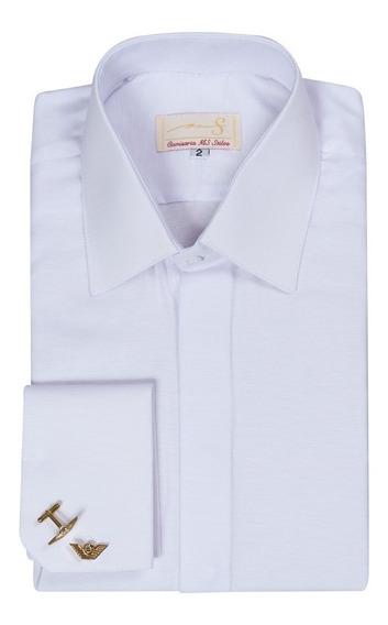 Camisa Punho Duplo Gola Francesa (ref- A 052)