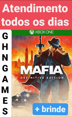 Mafia 1 Definitive + Brinde Xbox One Mídia Digital Envio Ime