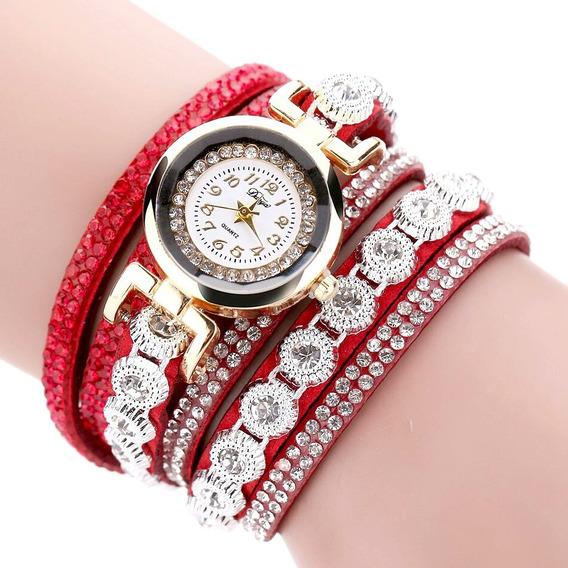 Relógio Feminino De Pulso Vermelho