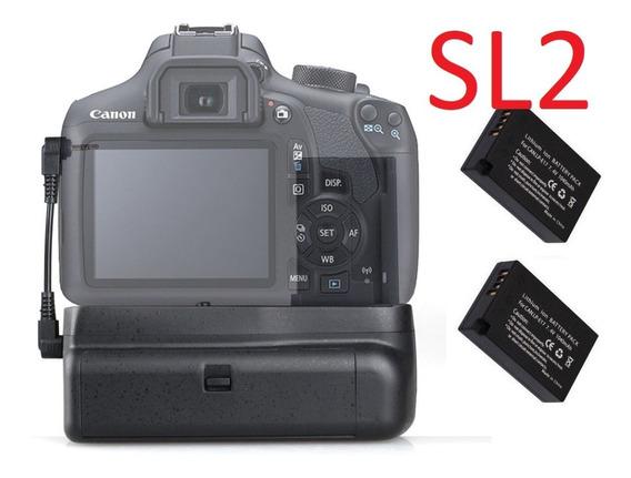 Grip Canon Eos 200d Rebel Sl2 +2x Baterias Lp-e17 Em 12x Sj