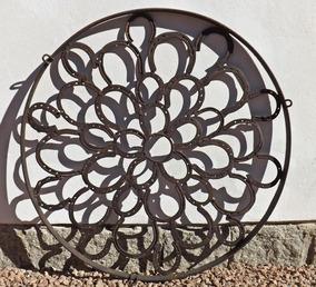 Antiga Roda De Ferraduras (carroça Lustre Arandela Traia)