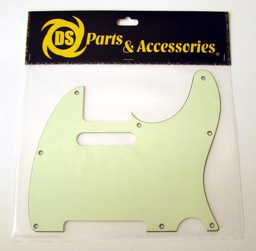 Pickguard Tricapa Telecaster Ds Parts Verde Menta Ds-a58