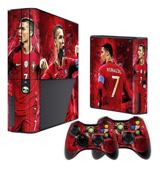 Skin Xbox 360 Super Slim Cristiano Ronaldo Cr7- Frete Grátis