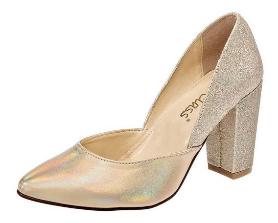 Zapato Been Class 11111 Mujer Talla 22-26 Color Oro Pk-oi19