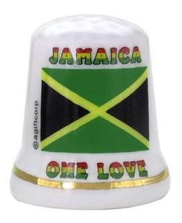 Bandera De Jamaica Caribe Perla Souvenir Coleccionable Dedal
