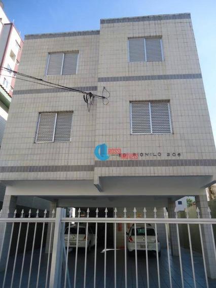 Apartamento Com 2 Dormitórios Grande 100 Metros Da Praia Com Garagem - Mobiliado Ou Vazio - Ap0792