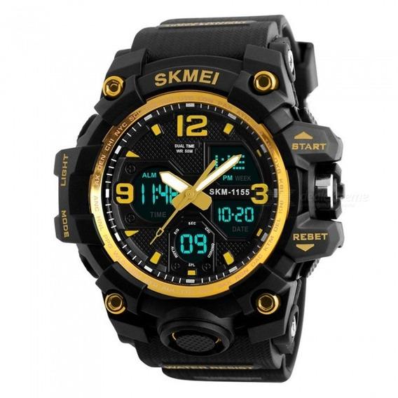 Relógio Masculino Esportivo Skmei 1155-b Frete Grátis
