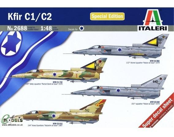 Avion Italeri P/armar Kfir C1/c2 1/48 Kit 2688