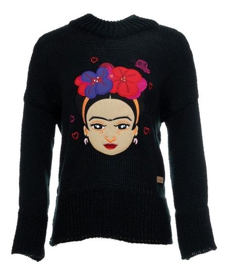 Sweater Original Frida Kahlo Fks Black