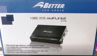 Amplificador Better Bt4750 1600w 4 Canales