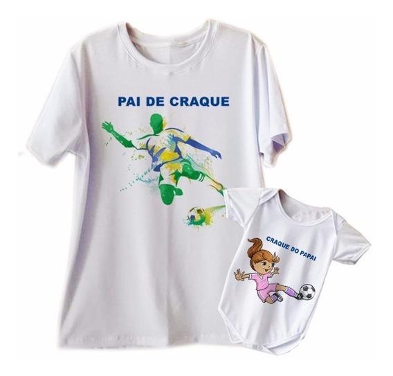 Kit Camisetas Pai Filho Ou Pai Filha 2 Pç Blusa T Shirt