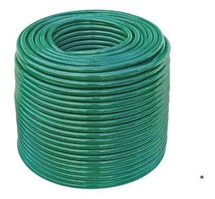 Mangueira Flex Tramontina De 1/2 Verde Em Pvc 3 Camadas 50 M