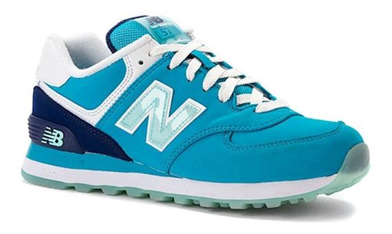 New Balance - Mujer Wl574sly Azul Turquesa
