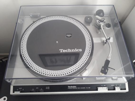 Toca-discos Technics Sl-220 Impecável, Com Manual Original