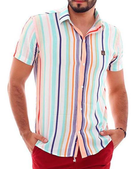 Kit Com 3 Camisas Floridas Masculinas Manga Curta Bamborra