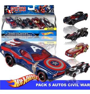 Autos Hot Wheels Captain America Civil War - Guerra Civil