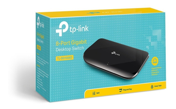 Switch 8 Portas Gigabit Tp-link Tl-sg1008d 10/100/1000 + Nfe