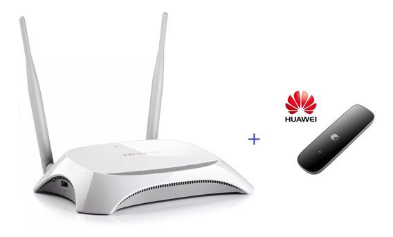 Kit Internet Roteador Wifi 3g + Modem Huawei 3.5g Ent. Rural