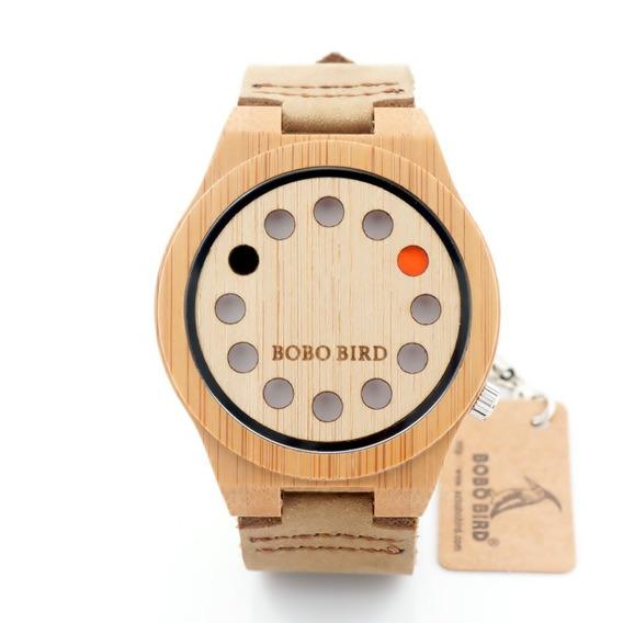 Relógio Masculino Bambu Madeira A04 Bobo Bird