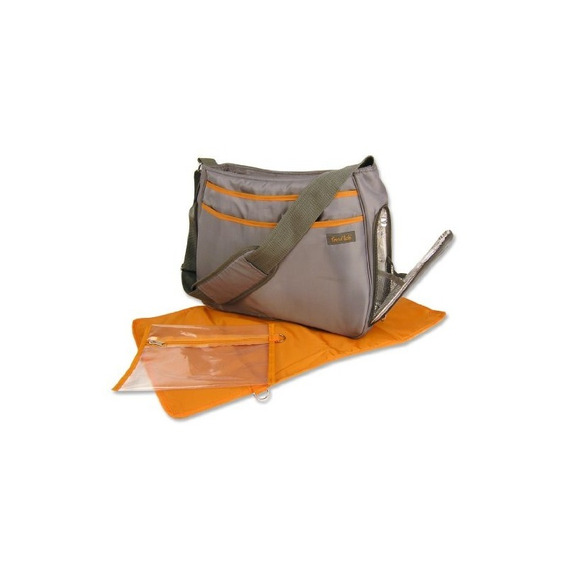 Bolsa De Pañales Trend Lab Ultimate, Gris / Naranja