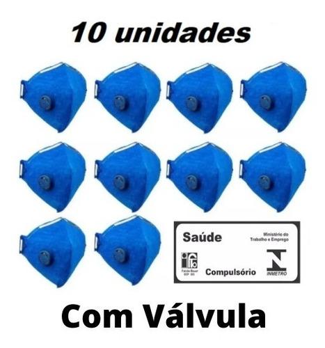 Máscara N95 Pff2 C/válvula Kit 10 Unidades Inmetro Anvisa Nf