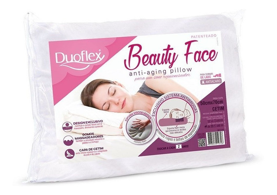 Travesseiro Beauty Face Pillow Duoflex - Bf3100