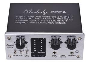 Muslady 222a Interfaz Del Sistema De Audio Usb De 2 Canales
