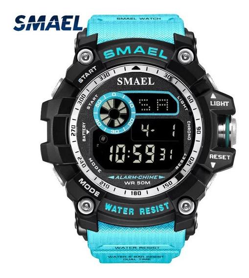 Relógio Smael 8010 Militar Tático Original A Prova D