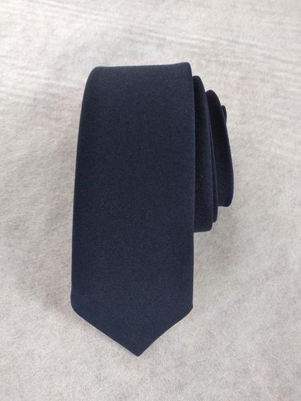 Gravata Azul Marinho Fosco Slim