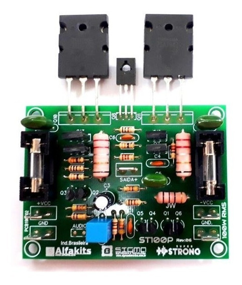 Placa Amplificador Hi-end 100w Rms Alfakits St100p Rev6
