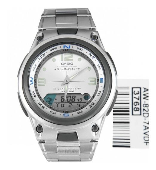 Relógio Masculino Aw-82d-7avdf Pesca Analógico-digital