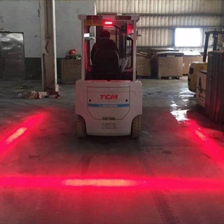 Faro Led Rojo Para Montacargas Maquinaria 30w Luz Laser Foco