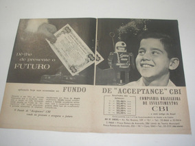 L 290/ Pbmk28 Propaganda Antiga Cia Brasileira Investimento