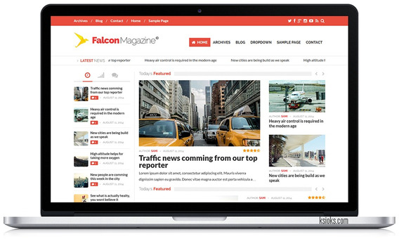 Falcon - Portal De Noticias Em Wordpress 2018