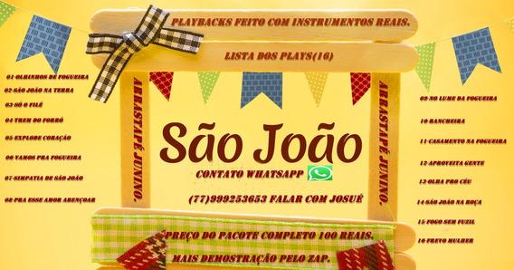 Pacote Com 16 Playbacks Arrastapé São João 100 Reias.