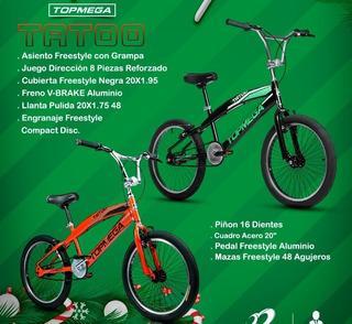 Bici Bmx Top Mega Tatoo Rod. 20