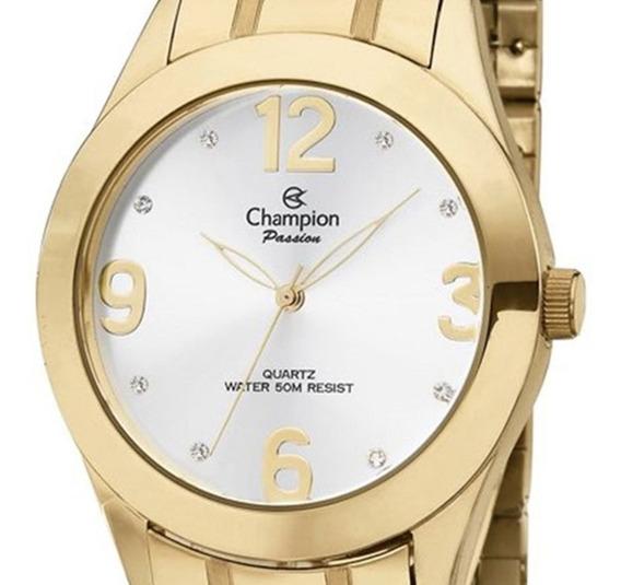 Relógio Feminino Champion Dourado Ch24268h Promoção