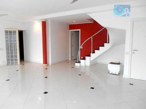 Imagem 1 de 30 de Cobertura À Venda, Condomínio Costão Das Tartarugas, Enseada - Guarujá - Co0251