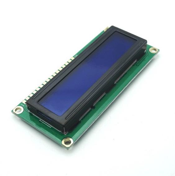 Display Lcd 16x2 1602 Com Fundo Azul Atmel Arduino