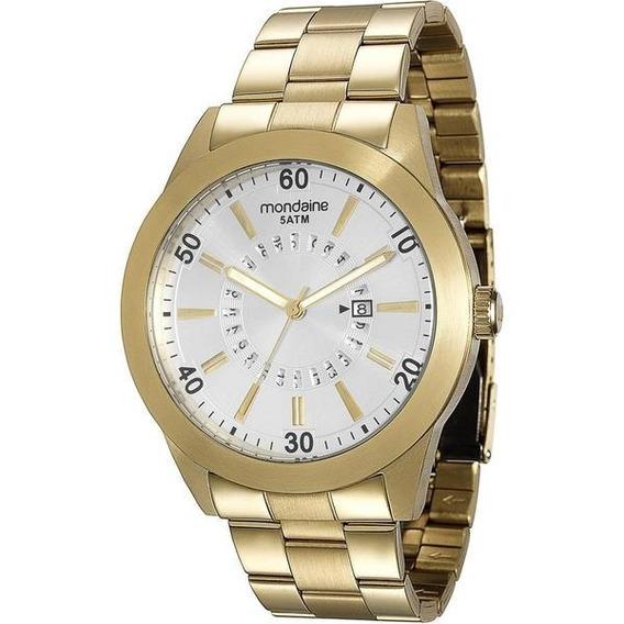Relógio Analógico Original Mondaine Masculino Dourado C/ Nfe