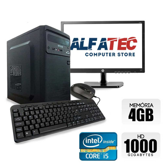 Computador Intel Core I5 4gb Hd 1tb Monitor 18,5